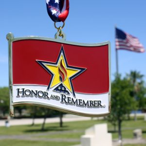 Virtual Strides Virtual Race - Honor and Remember Flag Medal